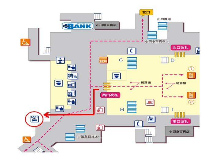 小田急町田駅西口 タクシー乗り場地図