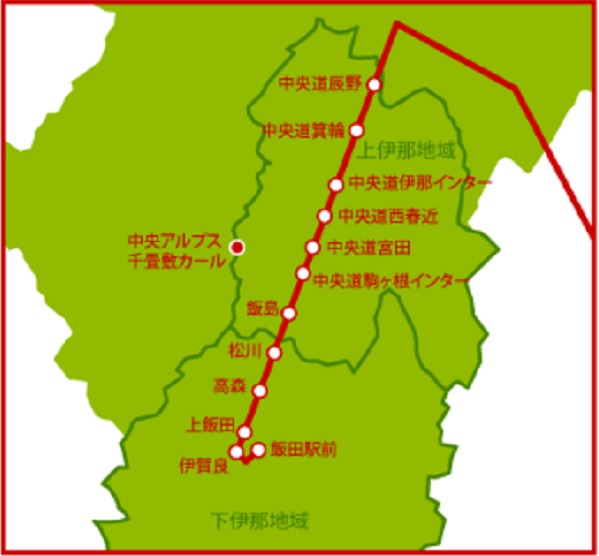 立川飯田線 停車バス停