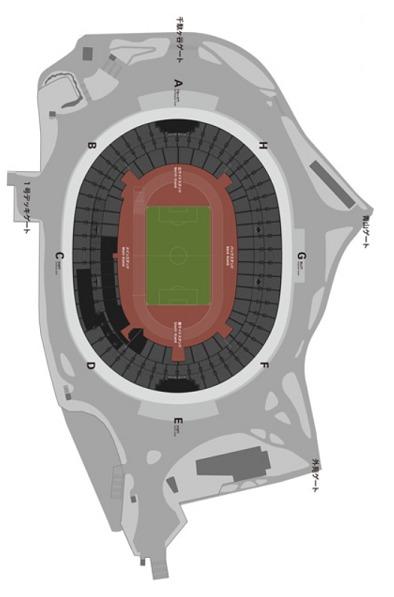 国立競技場全体図