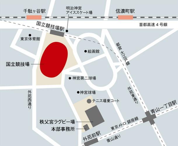 国立競技場地図