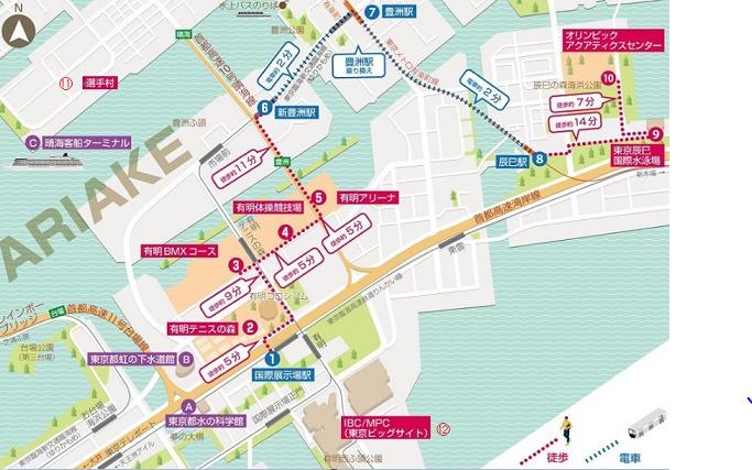 東京2020オリンピック有明地区会場x地図