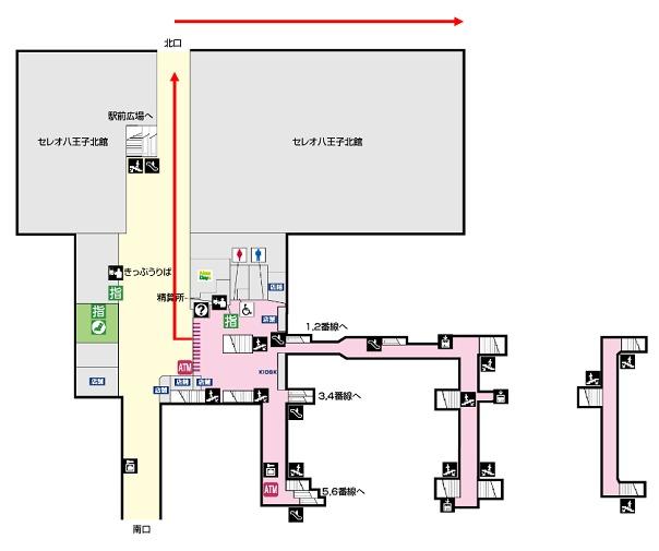 JR八王子構内図