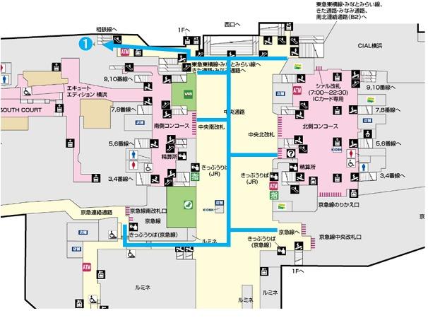 横浜駅 中央通り 相鉄線乗り換え