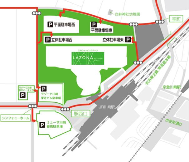 ラゾーナ川崎 駐車場入口