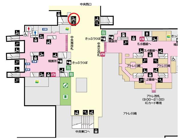 川崎駅(西口)一般車乗降場