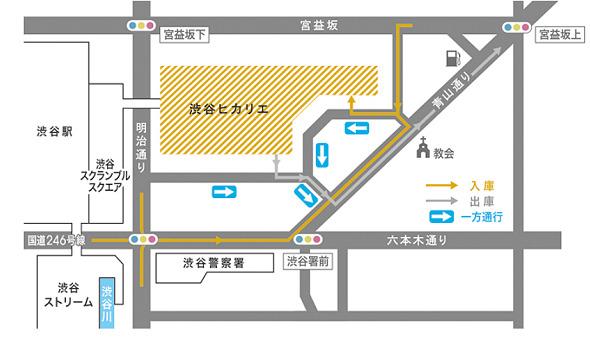 渋谷ヒカリエ駐車場